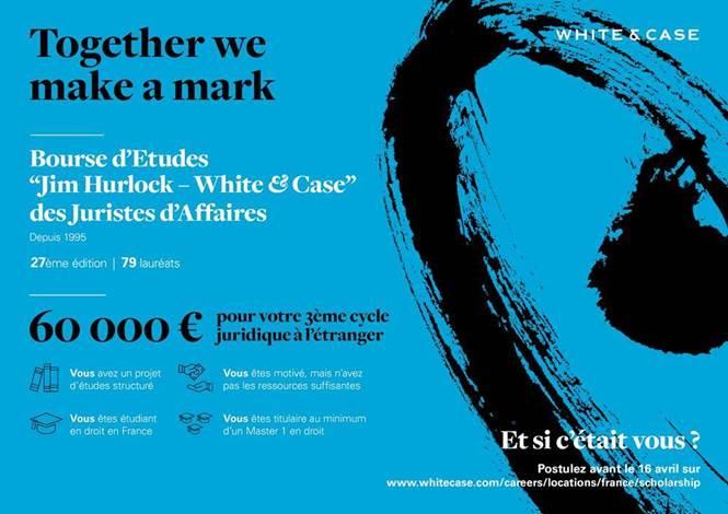 Bourse d'Etudes « Jim Hurlock – White & Case » des Juristes d'Affaires